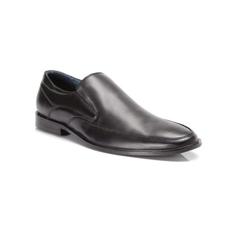 Мъжки елегантни обувки от естествена кожа черни Mazaro - Полша